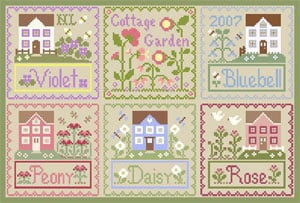Flower cottage packs cottage garden da country cottage needleworks schemi punto croce for Country garden 6 pack