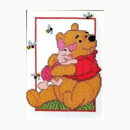 Winnie the pooh e pimpi da vervaco disney by vervaco for Punto croce disney winnie the pooh