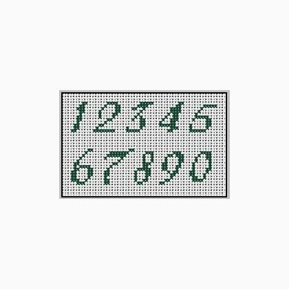 Alfabeto Numeri Da Casacenina Schemi Punto Croce Schemi Punto