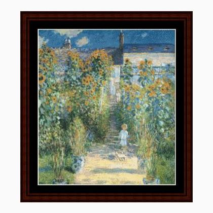 Monet il giardino degli artisti a vetheuil da cross stitch collectibles schemi punto croce - Il giardino degli artisti ...