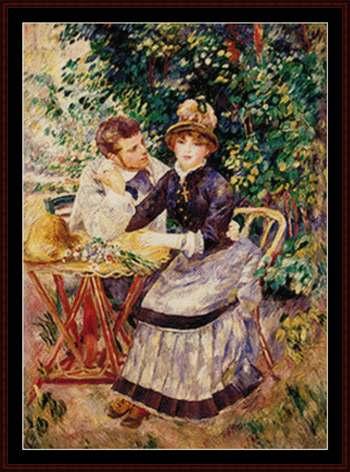Renoir - In Giardino da Cross Stitch Collectibles - Schemi Punto ...