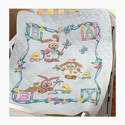 Coniglietti giocherelloni copertina da the janlynn for Copertine punto croce bimbi schemi