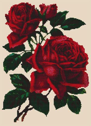 Rose Rosse Da Mtv Designs Schemi Punto Croce Schemi Punto Croce