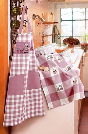 Canovaccio kitchen impressions bianco prugna da rico - Canovaccio da cucina ...