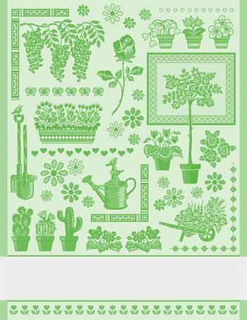 Come una volta asciugapiatti jardin verde da tessitura - Punto jardin ...