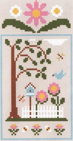 Spring Social Birdhouse Garden Da Country Cottage Needleworks
