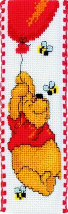 Segnalibro winnie the pooh il palloncino da vervaco for Punto croce disney winnie the pooh