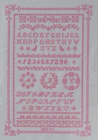 Alfabeto Romantico Da Antichi Ricami Schemi Punto Croce Schemi