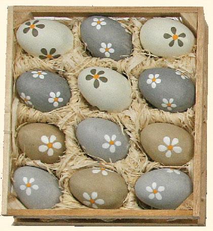 Uova Di Ceramica Dipinte A Mano.Uova Di Pasqua In Ceramica Pastel Grigi