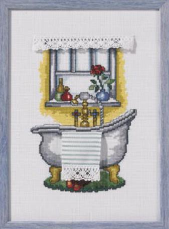 Sala da bagno bath da permin of copenhagen piccoli quadri kit punto croce kit casa cenina - Quadri per il bagno ...