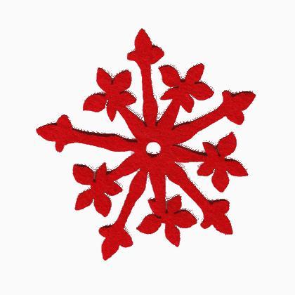 incantevoli decorazioni fiocco di neve rosso da dmc