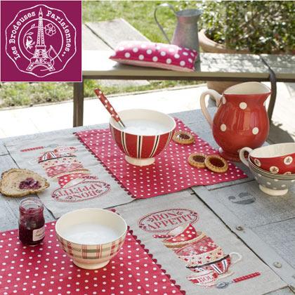 Set de table bon app tit lino da les brodeuses - Set de table en lin ...