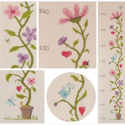 Toise aux fleurs da nascosta accessori merceria for Jardin aux fleurs