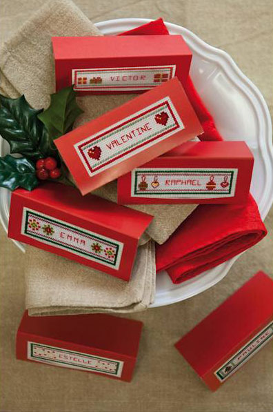 Piccoli Segnaposto Natalizi.Kit Segnaposto Natale Tradizionale