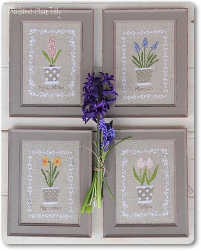 bulbes de printemps da madame chantilly schemi punto croce schemi punto croce casa cenina. Black Bedroom Furniture Sets. Home Design Ideas