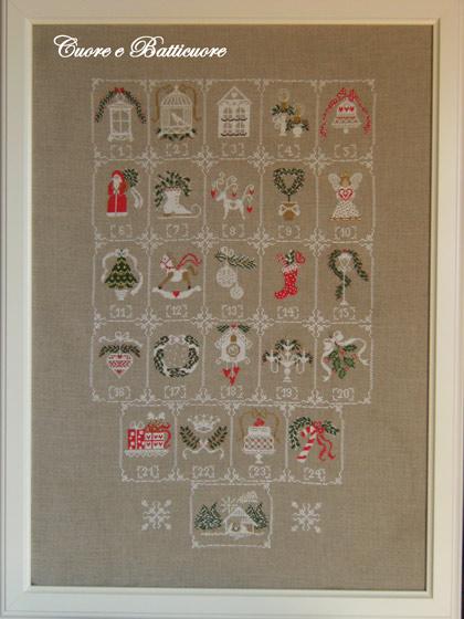 Calendario Dellavvento Punto Croce.Shabby Advent Calendar