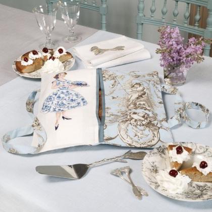sac porte tarte toile de jouy bleu lino da les brodeuses parisiennes les brodeuses. Black Bedroom Furniture Sets. Home Design Ideas