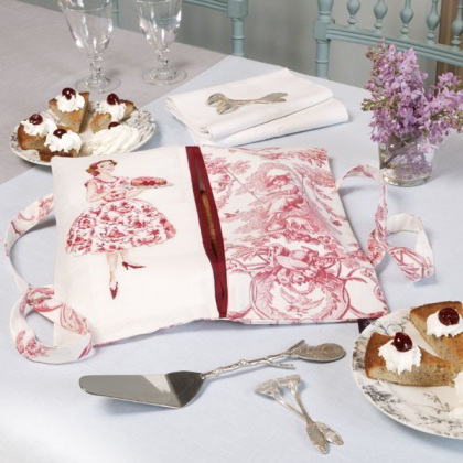 sac porte tarte toile de jouy rouge lino da les brodeuses parisiennes les brodeuses. Black Bedroom Furniture Sets. Home Design Ideas
