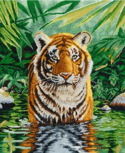 Il bagno della tigre da dmc altre collezioni kit punto croce kit casa cenina - Tiger accessori bagno ...