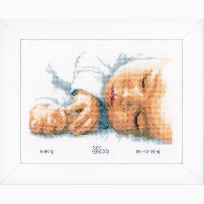 Quadretto nascita da vervaco bambini kit punto croce for Quadretto nascita punto croce