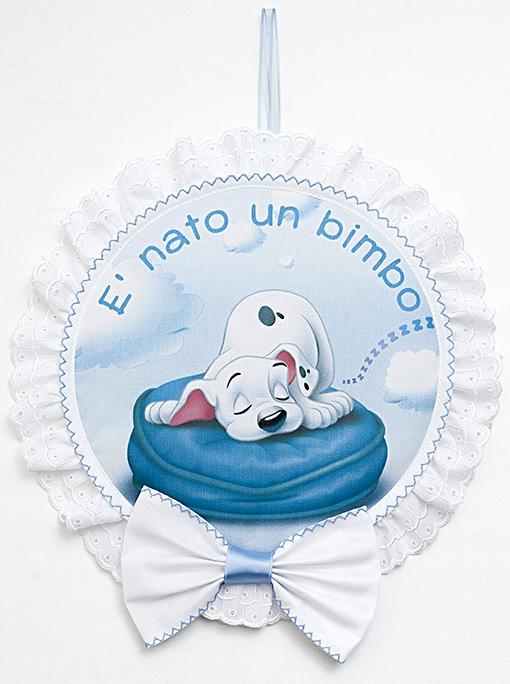 Molto Fiocco nascita - La carica dei 101 da Filet - Per i bimbi  DA45