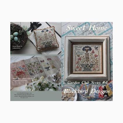 Sweet Home Garden Club 4 Da Blackbird Designs Schemi Punto Croce Schemi Punto Croce Casa