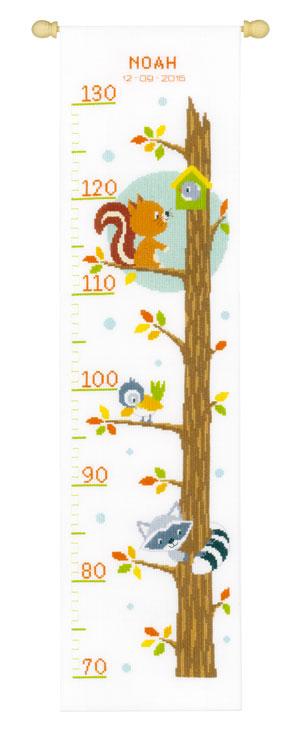 Metro per bambini animali nell 39 albero da vervaco for Animali a punto croce per bambini