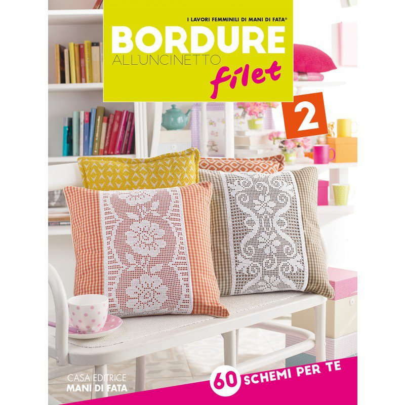 Bordure all 39 uncinetto filet 2 da mani di fata libri Bordure all uncinetto per tovaglie