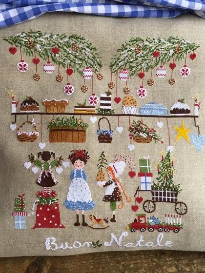 Immagini Di Natale A Punto Croce.La Vigilia Di Natale