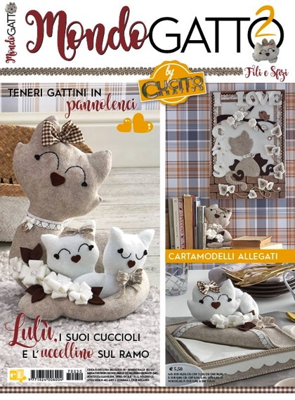 Speciali di cucito creativo mondo gatto 2 da lumina for Cucito creativo gatti