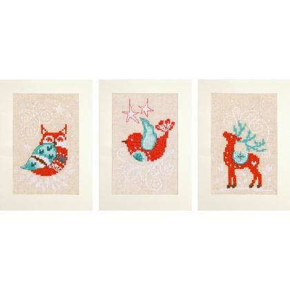 Biglietti Di Natale A Punto Croce.Biglietti Di Auguri Winter Scenes 3