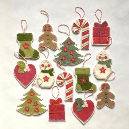 Cartamodelli Decorazioni Natalizie In Feltro.Kit Feltro Happy Noel Da Cinnamon Patch The Kit Cucito Creativo