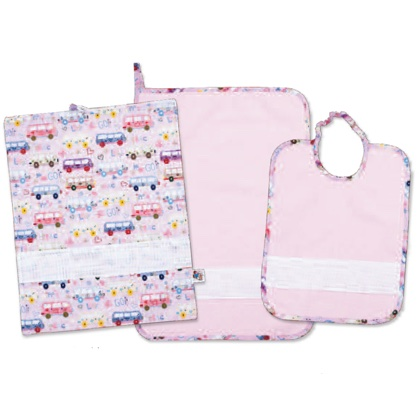 Punto Croce Per Asilo.Set Asilo Love Bus Rosa
