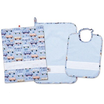 Punto Croce Per Asilo.Set Asilo Happy Bus Azzurro