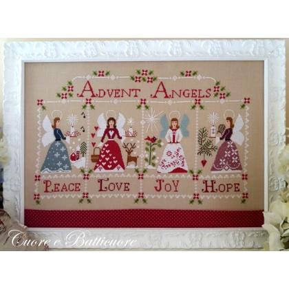Gli Angeli Dellavvento Da Cuore E Batticuore Schemi Punto Croce